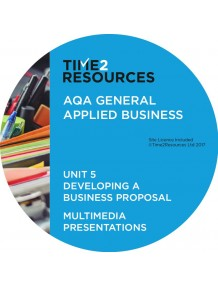 AQA Applied General Business Unit 5: Developing a business proposal Multimedia Presentations