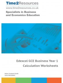 Edexcel GCE Business Year 1 Calculation Worksheets CD & Printed