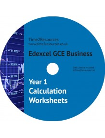 Edexcel GCE Business Year 1 Calculation Worksheets CD only