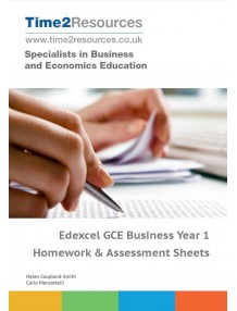 Edexcel GCE Business Year 1 Homework and Assessment Worksheets CD & Printed