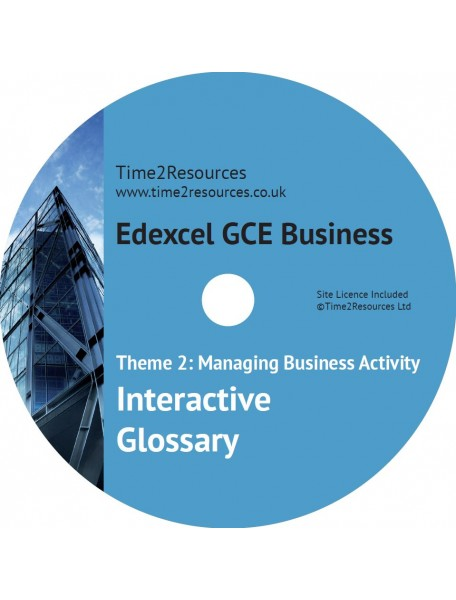 Edexcel GCE Business Theme 2 Interactive Glossary