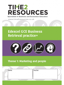 Edexcel GCE Business Theme 1 Marketing & People Retrieval Practice+ Workbook (pack of 10)