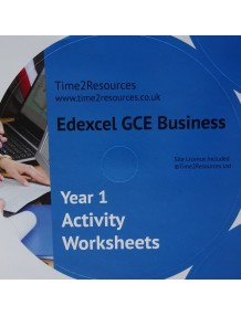 Edexcel GCE Business Year 1 Activity Worksheets CD only