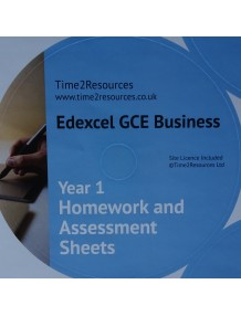 Edexcel GCE Business Year 1 Homework and Assessment Worksheets CD only