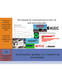 Edexcel GCE Business Paper 3 support resources The Entertainment Industry