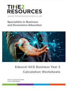 Edexcel GCE Business Year 2 Calculation Worksheets CD & Printed