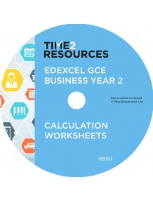 Edexcel GCE Business Year 2 Calculation Worksheets CD only