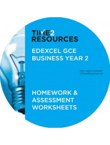 Edexcel GCE Business Year 2 Homework and Assessment Worksheets CD only