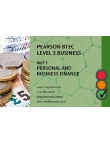 Pearson BTEC Business Unit 3 Personal and Business Finance Revision Guides (10)