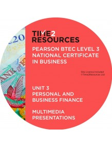 Pearson BTEC Level 3 Business Unit 3 Personal & Business Finance Multimedia Presentations