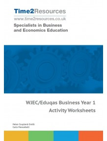 WJEC/Eduqas GCE Business Year 1 Activity Worksheets CD & Printed