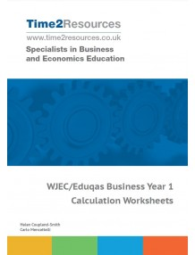 WJEC/Eduqas GCE Business Year 1 Calculation Worksheets CD & Printed