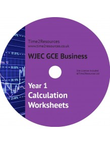 WJEC/Eduqas GCE Business Year 1 Calculation Worksheets CD only