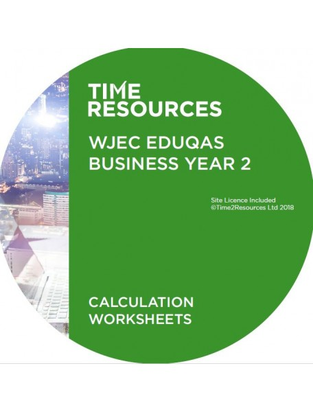WJEC/Eduqas GCE Business Year 2 Calculation Worksheets