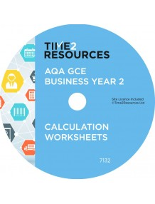 AQA GCE Business Year 2 Calculation Worksheets CD only