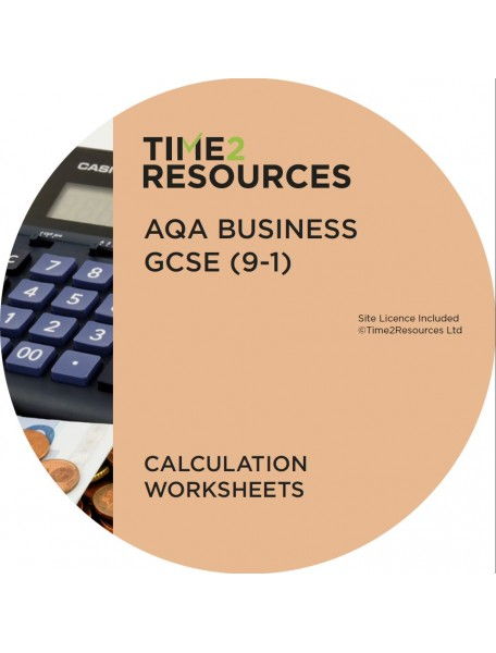 GCSE (9-1) AQA Business Calculation Worksheets
