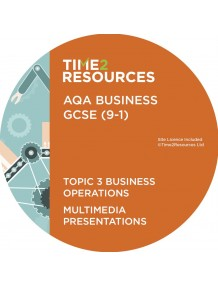 GCSE (9-1) AQA Business Multimedia Presentations Topic 3: Business operations
