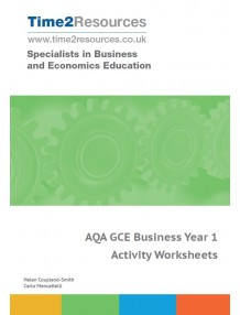 AQA GCE Business Year 1 Activity Worksheets CD & printed