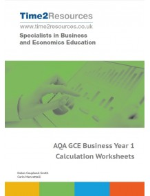 AQA GCE Business Year 1 Calculation Worksheets CD & printed