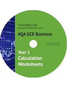 AQA GCE Business Year 1 Calculation Worksheets CD only