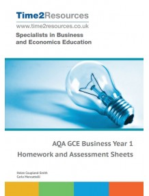 AQA GCE Business Year 1 Homework and Assessment Worksheets CD & printed