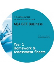 AQA GCE Business Year 1 Homework and Assessment Worksheets CD only