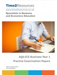 AQA GCE Business Year 1 & AS Practice Examination Papers CD & printed