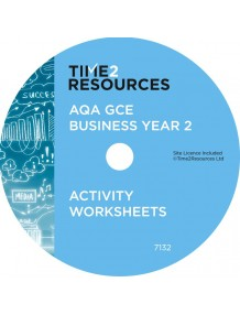 AQA GCE Business Year 2 Activity Worksheets CD only