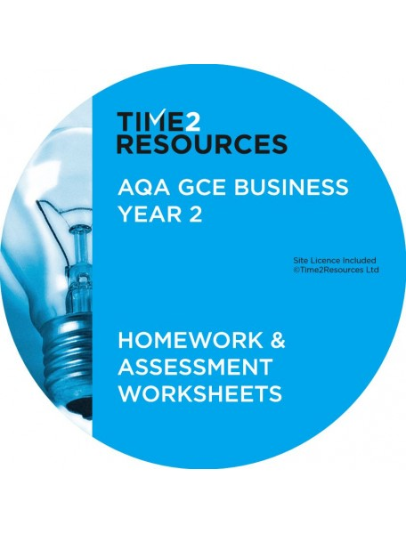 AQA GCE Business Year 2 Homework and Assessment Worksheets CD only