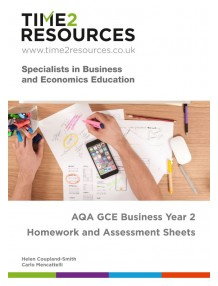 AQA GCE Business Year 2 Homework and Assessment Worksheets CD & printed