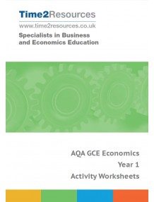 AQA GCE Economics Year 1 Activity Worksheets CD & Printed
