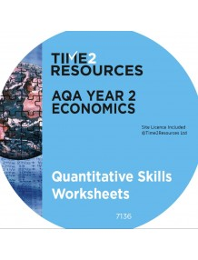 AQA GCE Economics Year 2 Quantitative Skills Worksheets CD & printed