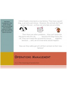 Cambridge O Level Business Studies Topic 4 Operations management Multimedia