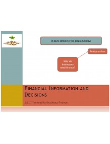 Cambridge O Level Business Studies Topic 5 Financial information and decisions Multimedia