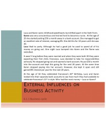 Cambridge O Level Business Studies Topic 6 External influences on business activity Multimedia