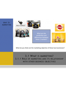 CAIE Topic 3 Marketing (AS Level) Multimedia Presentations