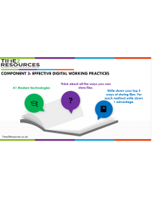 Component 3 Effective Digital Working Practices  Multi Media Presentations, Note takers and Activity Worksheets