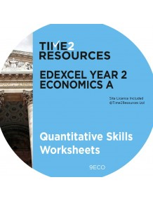 Edexcel GCE Economics A Year 2 Quantitative Skills Worksheets CD & printed