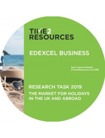 Edexcel GCE Business Paper 3 support CD The market for holidays in the UK and abroad