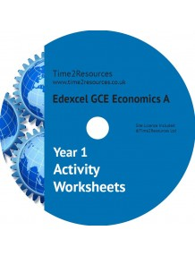 Edexcel GCE Economics A Year 1 Activity Worksheets CD & Printed