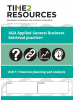 AQA Applied General Business Unit 1 Financial Planning and Analysis Retrieval Practice+ Workbook (pack of 10)