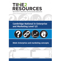 Cambridge National in Enterprise and Marketing R064 Retrieval practice+ Workbook (pack of 10)