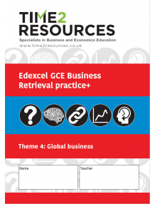 Edexcel GCE Business Theme 4 Global Business Retrieval Practice+ Workbook (pack of 10)