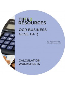GCSE (9-1) OCR Business Calculation Worksheets