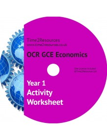 OCR GCE Economics Year 1 Activity Worksheets CD & Printed