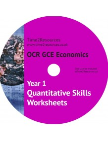 OCR GCE Economics Year 1 Quantitative Skills Worksheets CD & printed