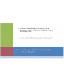 International GCSE Business Topic 2 Influences on business Multimedia