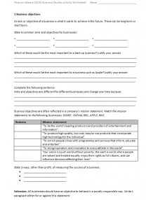 International GCSE in Business 4BS1 Activity Worksheets