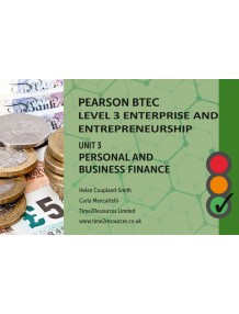 Pearson BTEC Level 3 Enterprise and Entrepreneurship Unit 3 Personal and Business Finance Revision Guides (10)