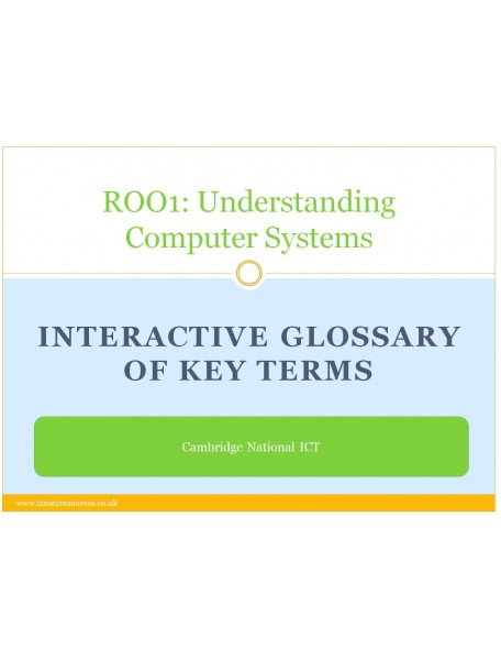 R001 Understanding Computer Systems Glossary